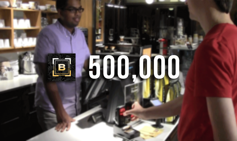 500,000 Transactions at Bridgehead Coffeehouse!