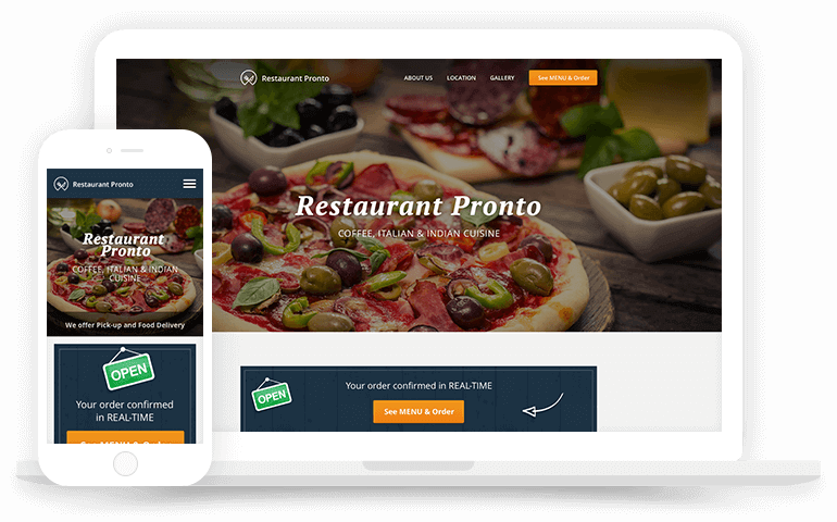 Spoonity Website Online Ordering Devices
